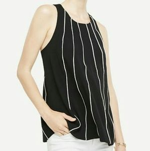 Ann Taylor piped swing shell top